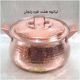 تیانچه مسی چکشی زنجان شش نفره